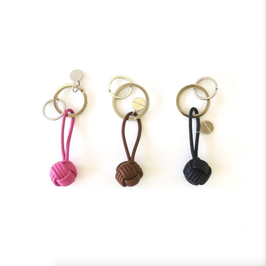 3 Schlüsselanhänger Nappaknopf